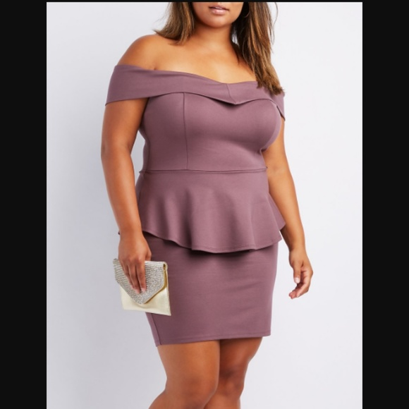 Cr Plus Size Offtheshoulder Peplum Dress Poshmark